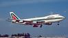 I-DEMS. Boeing 747-243B. Alitalia. Miami. February. 1996.