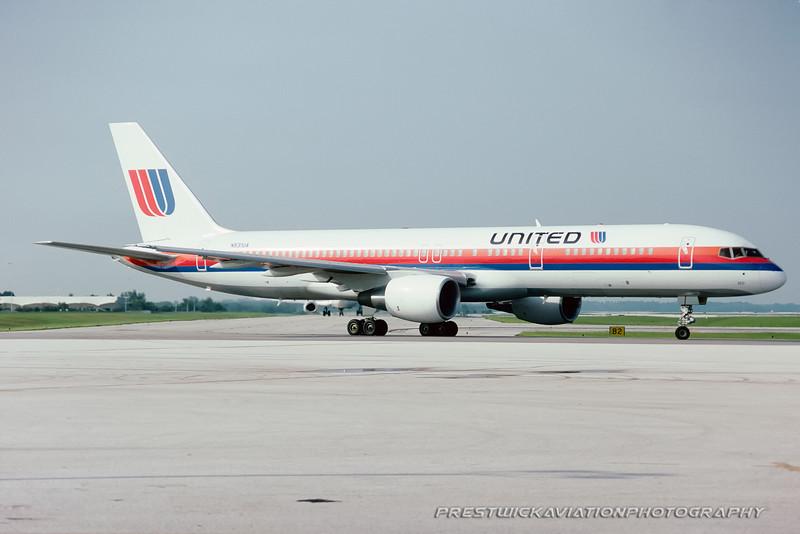 N531UA. Boeing 757-222. United. Orlando. June. 1992.