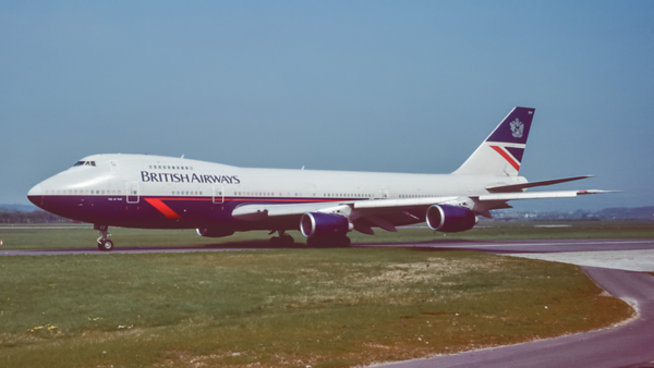 G-BDXF. Boeing 747-236B. British Airways. Glasgow. May. 1993.
