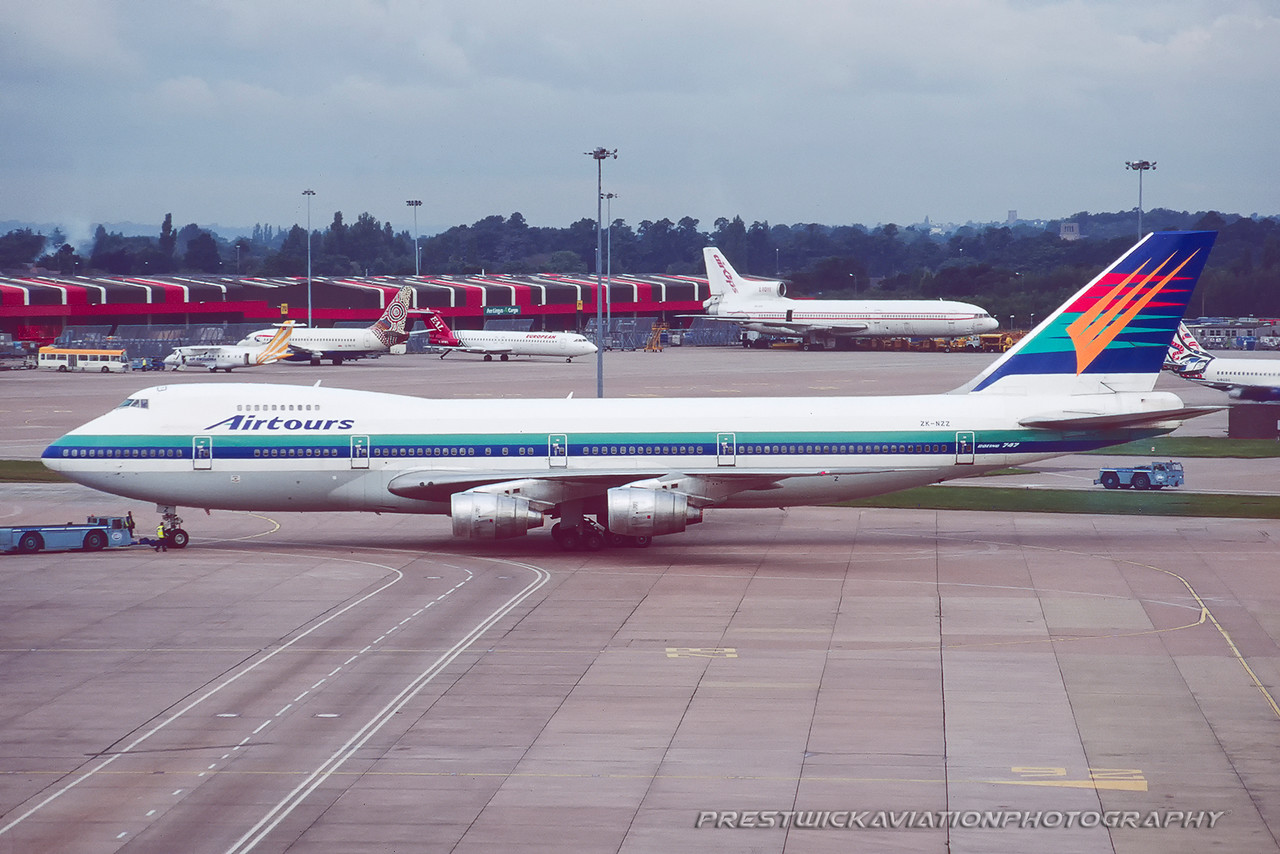 ZK-NZZ. Boeing 747-219B. Airtours. Manchester. August. 1998.