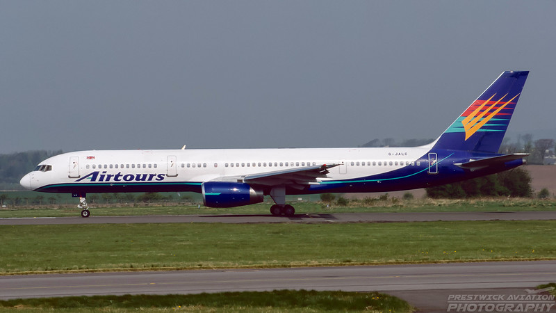 G-JALC. Boeing 757-225. Airtours. Glasgow. May. 1999.