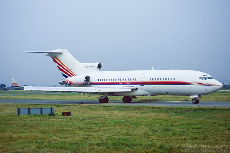 N529AC. Boeing 727-15. Amway Corp. Glasgow. September. 1996.