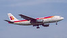 EC-DLF. Airbus A300B4-120. Iberia. Heathrow. April. 1999.