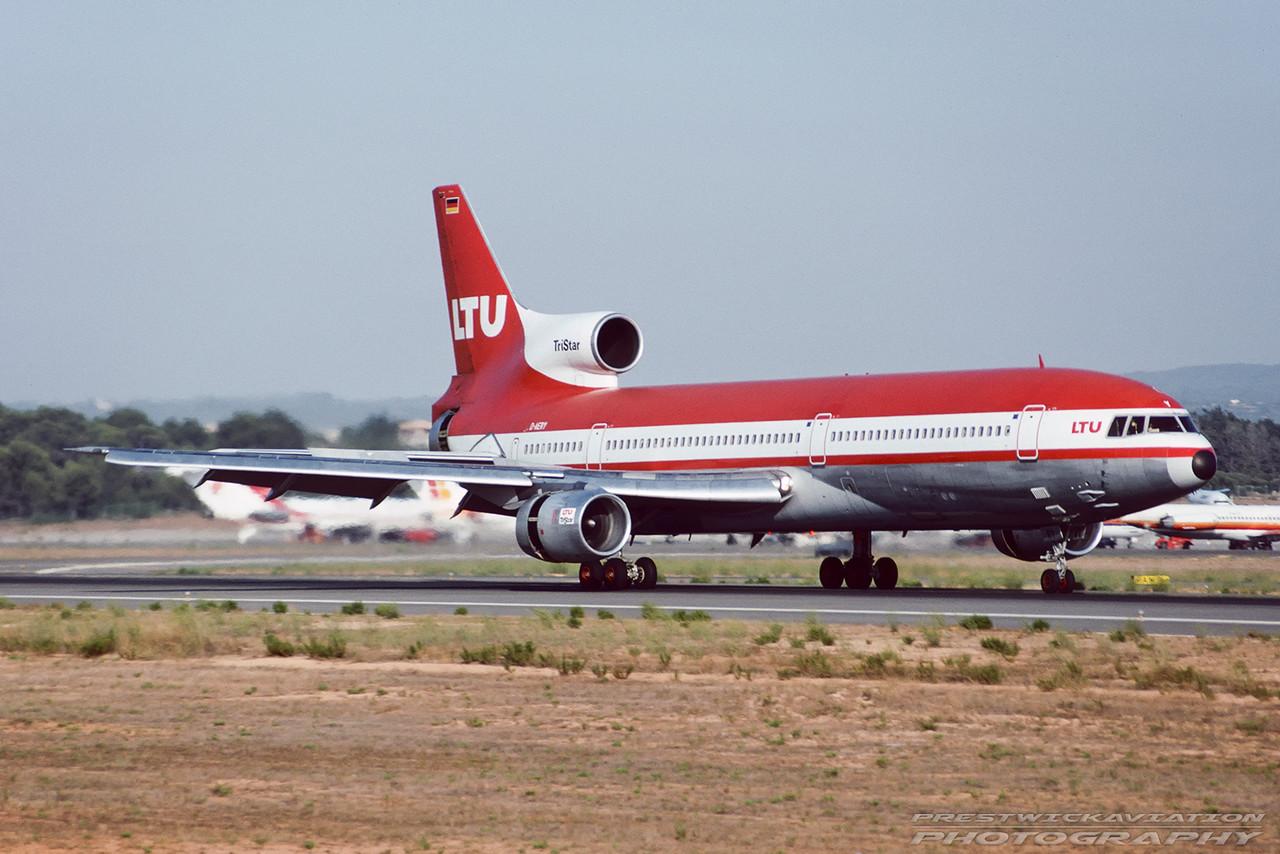 D-AERY. Lockheed L-1011-385-1 TriStar 1. LTU. Palma. August. 1992.