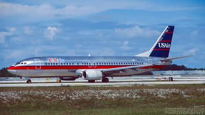N413US. Boeing 737-401. US Air. Fort Lauderdale. October. 1996.