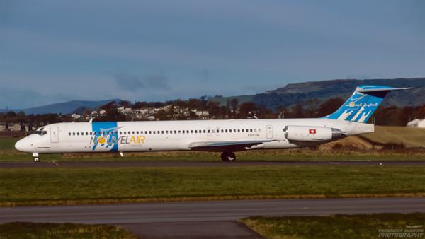 EI-CGI. McDonnell Douglas MD-83. Nouvelair Tunisie. Glasgow. October. 1998.