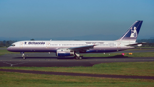 G-BYAG. Boeing 757-204. Britannia. Glasgow. October. 1997.