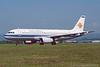 5B-BDC. Airbus A320-231. Eurocypria. Glasgow. May. 1999.