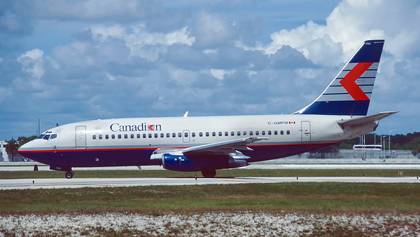 C-GMPW. Boeing 737-275/Adv. Canadian. Fort Lauderdale. October. 1996.