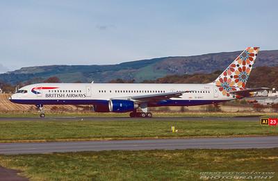 G-BIKT. Boeing 757-236. British Airways. Glasgow. October. 1998.