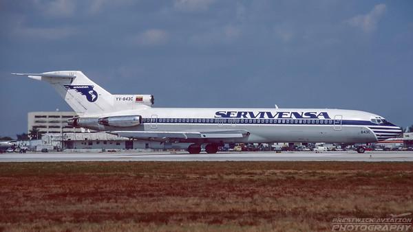 YV-843C. Boeing 727-281/Adv. Servivensa. Miami. February. 1996.