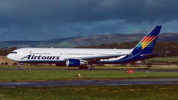 G-DIMB. Boeing 767-31K/ER. Airtours. Glasgow. October. 1998.