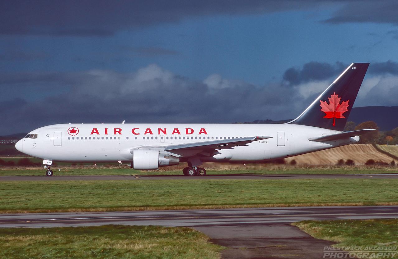 C-GAVA. Boeing 767-223. Air Canada. Glasgow. October. 1998.