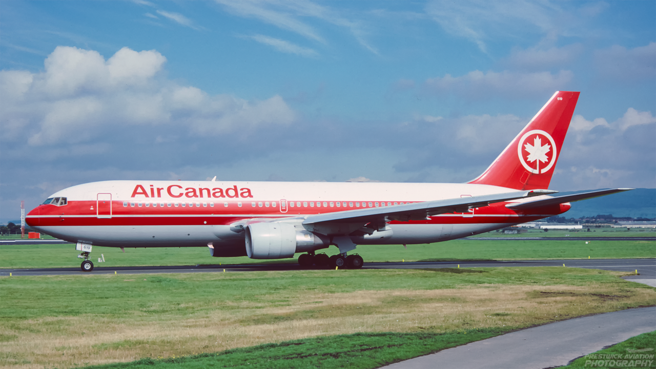 C-FBEM. Boeing 767-233/ER. Air Canada. Glasgow. August 1991.