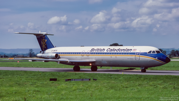 G-AWYR. BAC 111-501EX One-Eleven. British Caledonian. Glasgow. May. 1988.