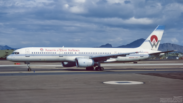 N906AW. Boeing 757-2G7. America West Airlines. Phoenix. February. 1996.