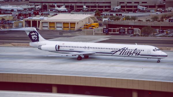N931AS. McDonnell Douglas MD-83. Alaska Airlines. Phoenix. February. 1996.