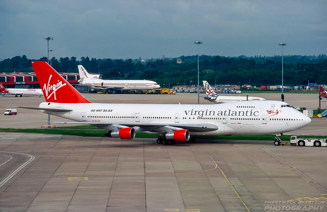 G-VLAX. Boeing 747-238B. Virgin Atlantic. Manchester. August. 1998.