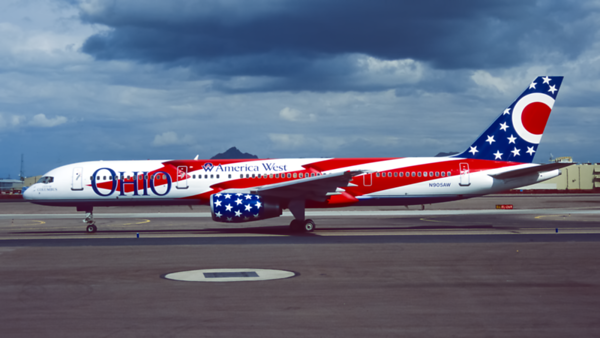 N905AW. Boeing 757-2G7. America West Airlines. Phoenix. February. 1996.
