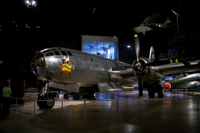 One of two american planes that have dropped nuclear weapons in wartime.  Oddly, I got to see the Enola Gay over the summer.
