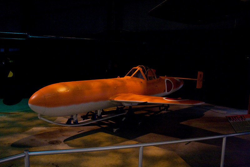 """A Japanese """"kamakazi"""" plane, dropped from the air and guided by the pilot to the target."""