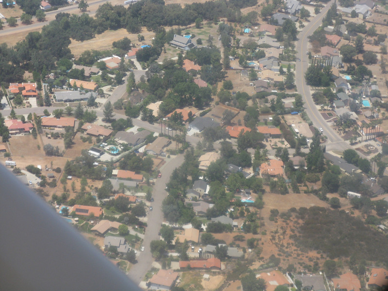 Aerial view of our house.