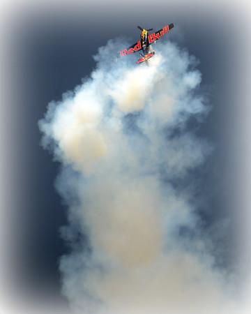Zivko Edge 540 - Red Bull - Oshkosh Air Show - Oshkosh, Wisconsin - Photo Taken: August 2, 2014