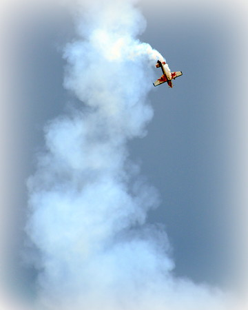 Zivko Edge 540 - Red Bull - Oshkosh Air Show - Oshkosh, Wisconsin - Photo Taken: August 2, 2014