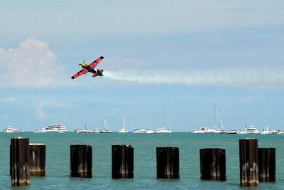 Zivko Edge 540 - Red Bull - Chicago Air & Water Show - Chicago, Illinois - Photo Taken: August 18, 2012