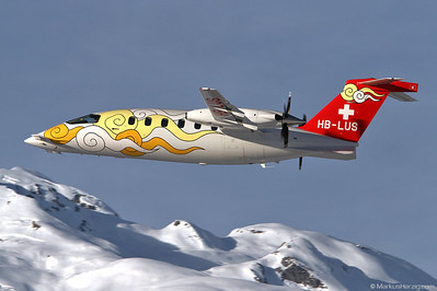 HB-LUS Piaggio P180 Sunny Air @ Sion Switzerland 28Dec11