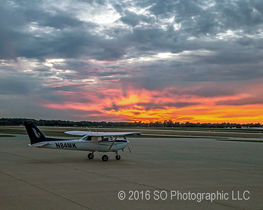 Sunset Behind the Cessna
