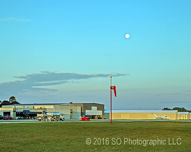 Moon Over the Goshen Airport