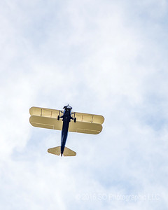 Stearman Over Goshen Airport