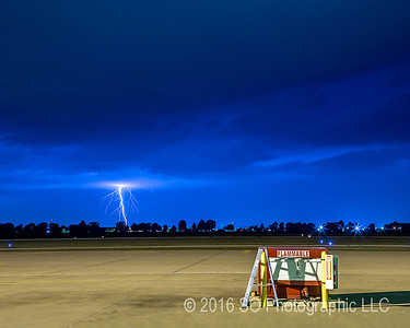 Lightning North of the Airport