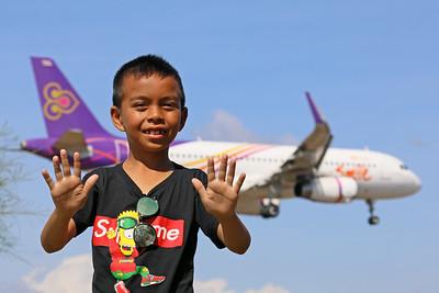 """Thai Smile"" | Phuket International Airport Mai Khao Beach"