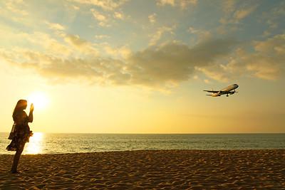 Phuket International Airport Mai Khao Beach Approach