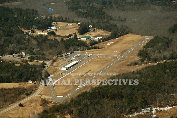 Sterling Ma. Airport (3B3) - A close look at mid-field shows a sailplane in tow   Runway 16/34  3,086' x 40' -- Helipad  H1  50' x 50'