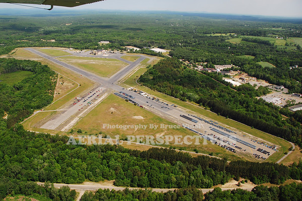 Moore Army Airfield, Fort Devens Ma. Closed in the late 1990's it is used to store State Police cars. Runway 32/14  4,681'