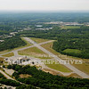 Moore Army Airfield, Fort Devens Ma. Closed in the late 1990's it is used to store State Police cars.<br /> Runway 32/14  4,681'