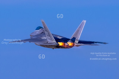 F-22A Raptor in Full Burner