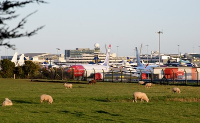 Overview of Dublin Airport 25 November 2020