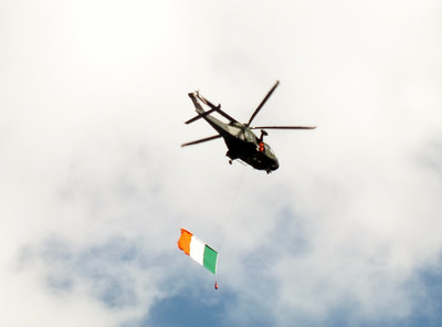 Irish Air Corp AW139 opens the show on the Liffey 15 September 2013
