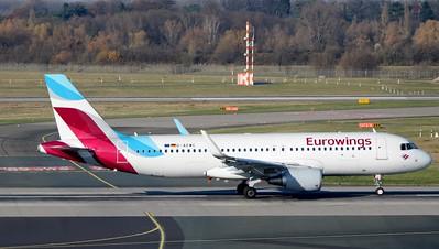 D-AEWC departs Dusseldorf 25 November 2016