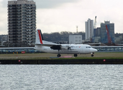 OO-VLJ London City Airport 1st February 2013