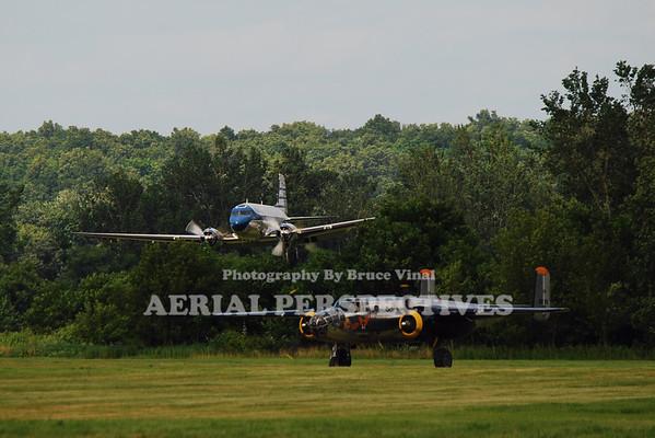 "N700CA - 1943 Douglas DC3C N2825B - 1940 North American RB-25 ""Miss Hap"""