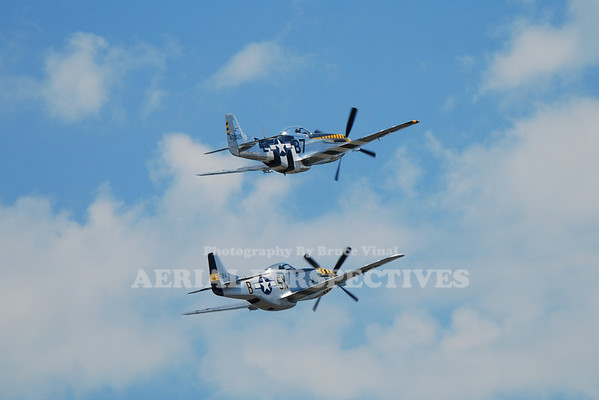 """The Horsemen"" P-51 Demo Team  - 2009 Rhode Island National Guard Open House and Airshow"