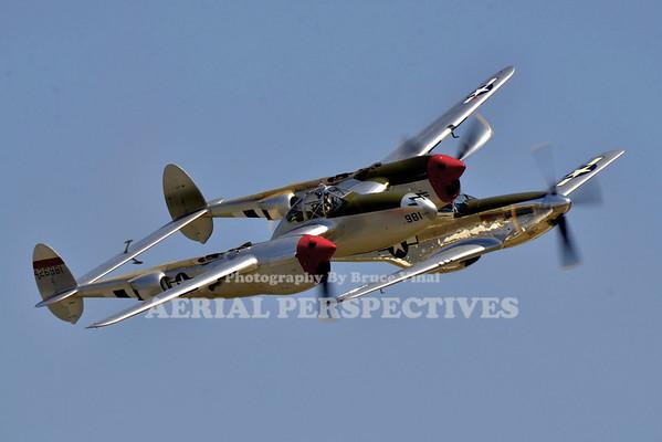 "NL7723C - 1944 Lockheed P-38L ""Honey Bunny"" / NL7722C - 1944 North American P-51D"