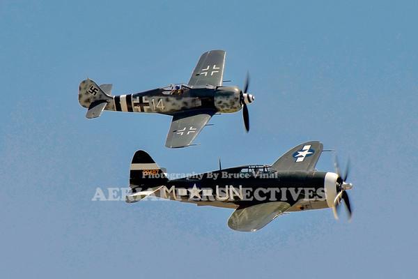 """NX3395G - 1942 Republic P-47G """"Spirit of Atlantic City NJ"""" / NX190RF 1944 Focke Wulf FW 190A-9"""