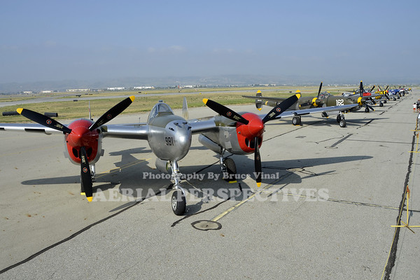"""NL7723C - 1944 Lockheed P-38L """"Honey Bunny"""" / NX138AM - 1943 Lockheed P-38J"""