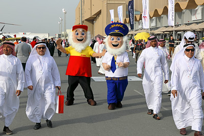 Bahrain International Airshow DHL Mascots